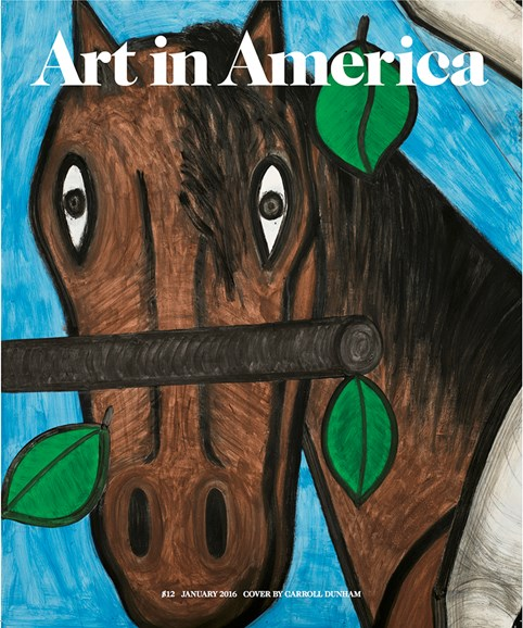Art In America Cover - 1/1/2016