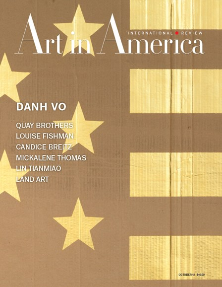 Art In America Cover - 10/1/2012
