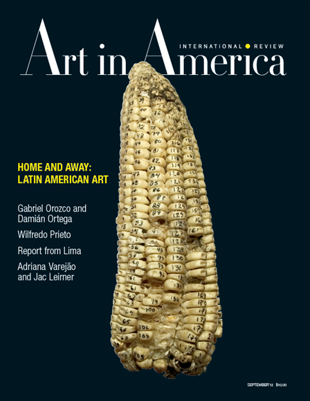 Art In America Cover - 9/1/2012