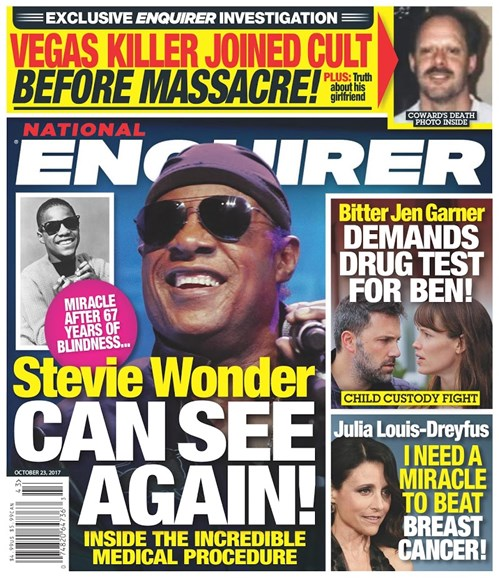 National Enquirer Cover - 10/23/2017