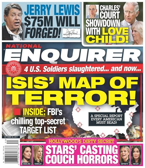National Enquirer Cover - 10/30/2017