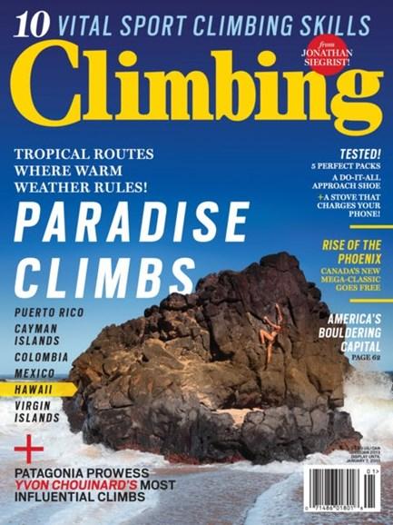 Climbing Magazine Cover - 12/1/2012