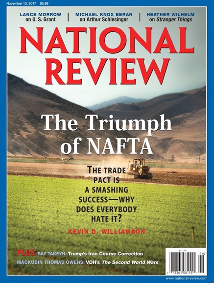 National Review Cover - 11/13/2017