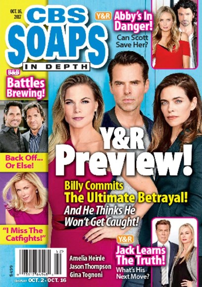 CBS Soaps In Depth Cover - 10/16/2017