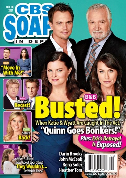 CBS Soaps In Depth Cover - 10/30/2017