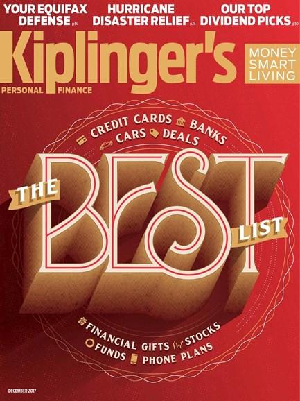 Kiplinger's Personal Finance Cover - 12/1/2017