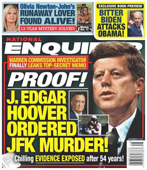 National Enquirer Cover - 11/27/2017
