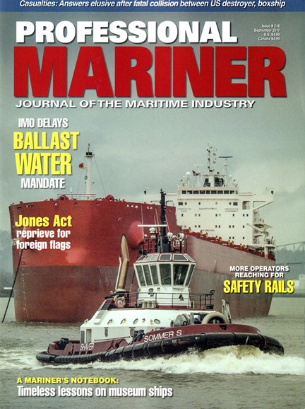 Professional Mariner Cover - 9/1/2017