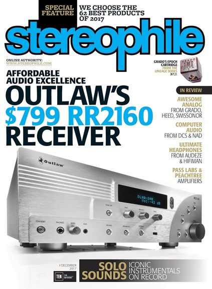Stereophile Cover - 12/1/2017