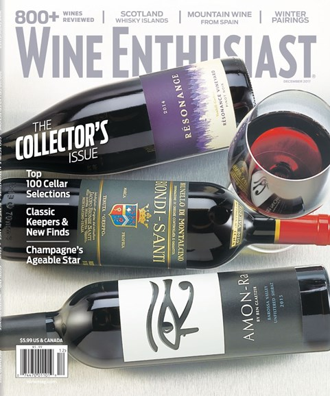 Wine Enthusiast Cover - 12/1/2017