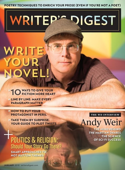 Writer's Digest Cover - 1/1/2018