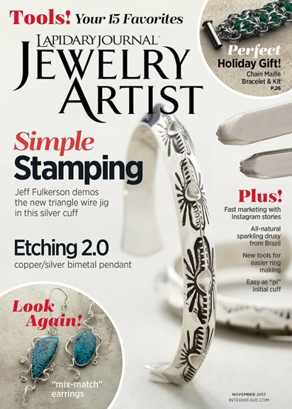 Lapidary Journal Jewelry Artist Cover - 11/1/2017