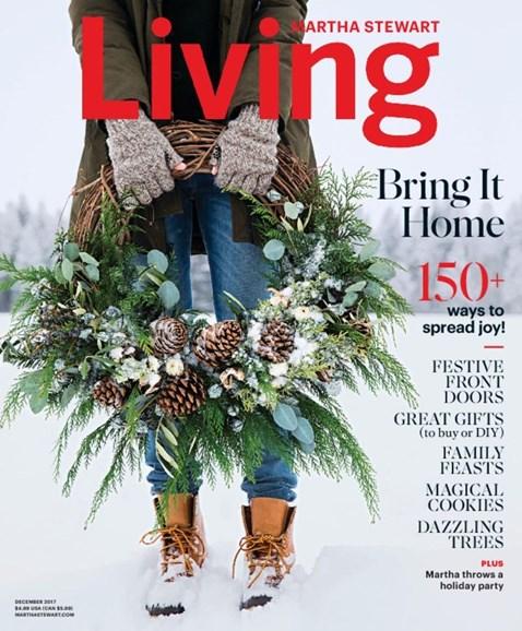 Martha Stewart Living Cover - 12/1/2017