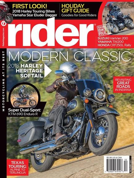 Rider Cover - 12/1/2017