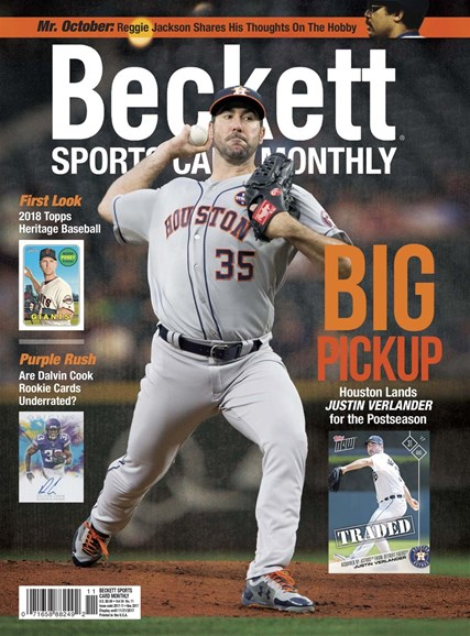 Beckett Sports Card Monthly Cover - 11/1/2017