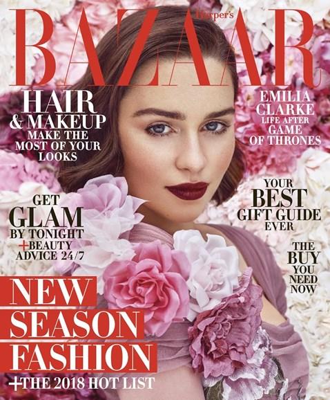 Harper's Bazaar Cover - 12/1/2017
