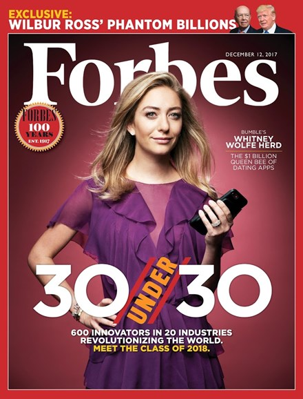 Forbes Cover - 12/12/2017