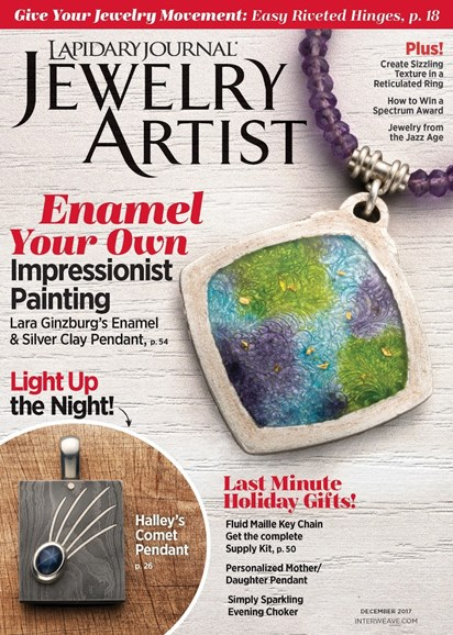 Lapidary Journal Jewelry Artist Cover - 12/1/2017