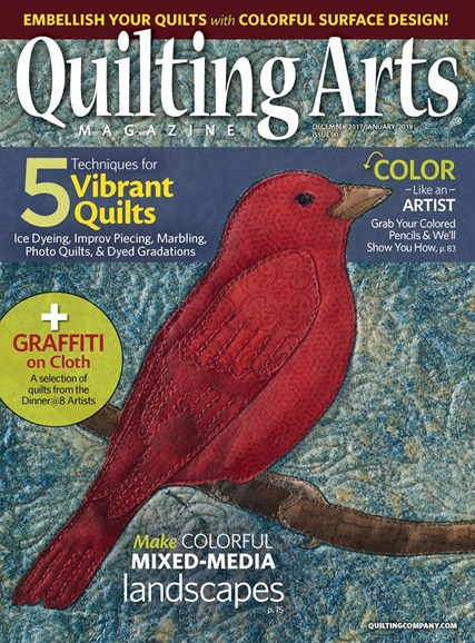 Quilting Arts Cover - 12/1/2017