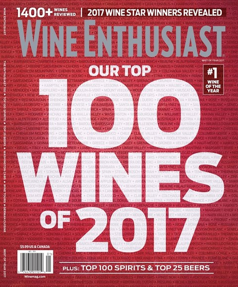 Wine Enthusiast Cover - 12/25/2017