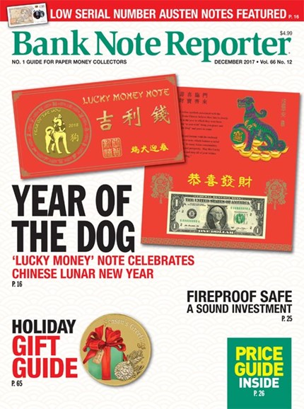 Bank Note Reporter Cover - 12/1/2017