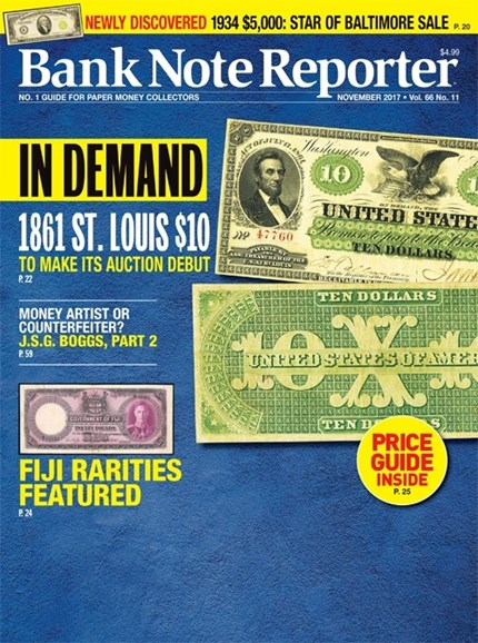 Bank Note Reporter Cover - 11/1/2017