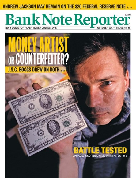 Bank Note Reporter Cover - 10/1/2017