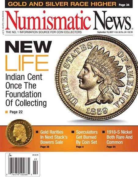 Numismatic News Cover - 9/19/2017