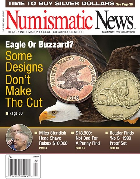 Numismatic News Cover - 8/29/2017