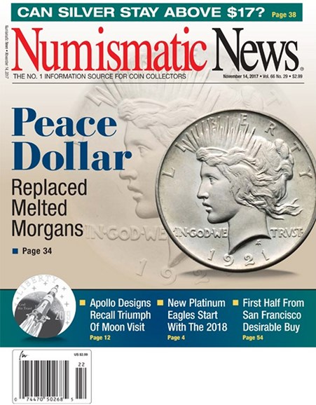 Numismatic News Cover - 11/14/2017