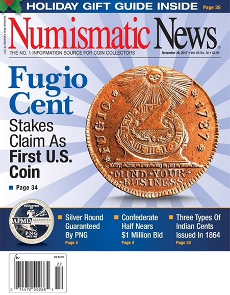 Numismatic News Cover - 11/28/2017