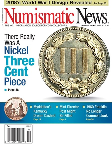 Numismatic News Cover - 10/31/2017