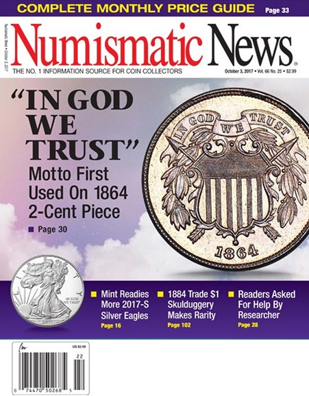 Numismatic News Cover - 10/3/2017