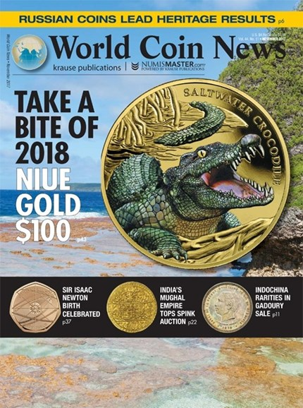 World Coin News Cover - 11/1/2017