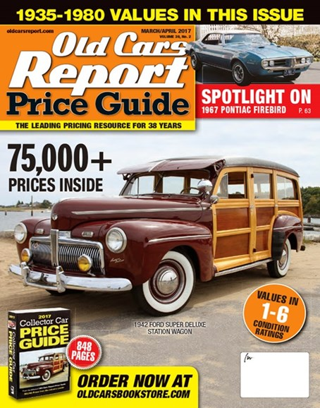 Old Cars Report Price Guide Cover - 3/1/2017