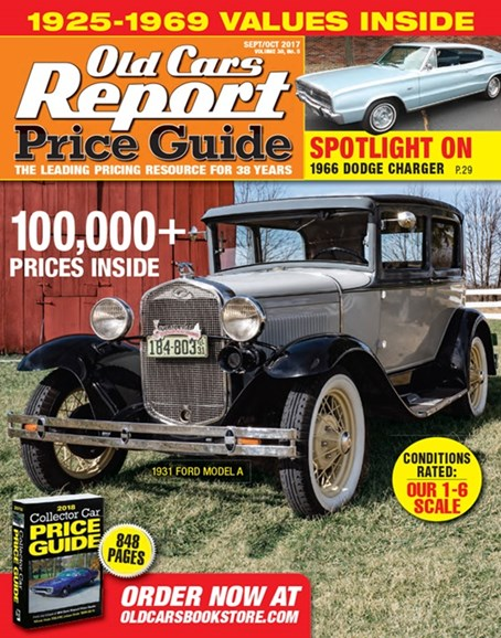 Old Cars Report Price Guide Cover - 9/1/2017