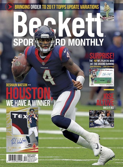 Beckett Sports Card Monthly Cover - 12/1/2017