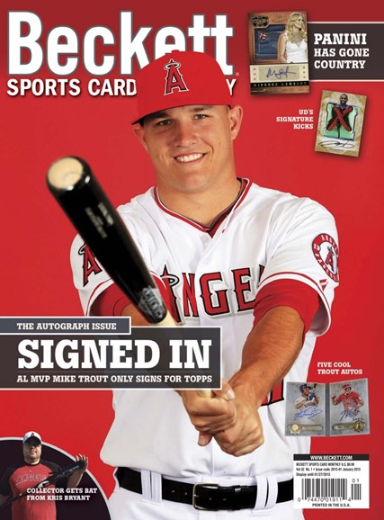 Beckett Sports Card Monthly Cover - 1/1/2015