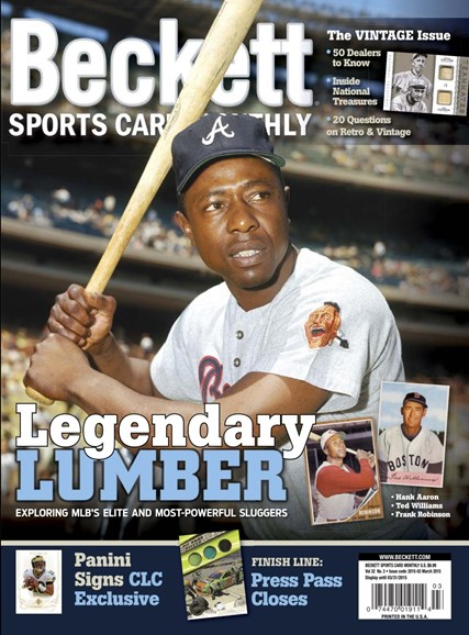 Beckett Sports Card Monthly Cover - 3/1/2015