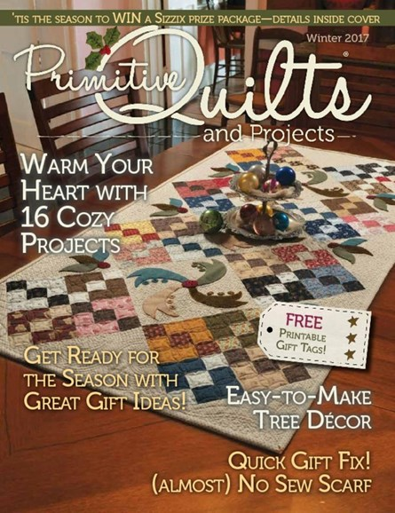 Primitive Quilts & Projects Cover - 12/1/2017