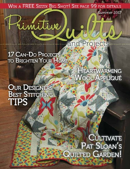 Primitive Quilts & Projects Cover - 6/1/2017