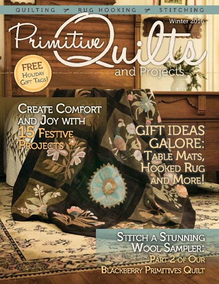 Primitive Quilts & Projects Cover - 12/1/2016
