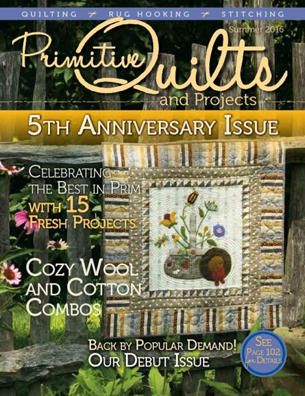 Primitive Quilts & Projects Cover - 6/1/2016