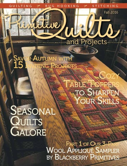 Primitive Quilts & Projects Cover - 9/1/2016