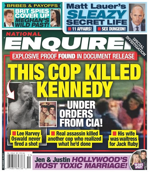 National Enquirer Cover - 12/18/2017