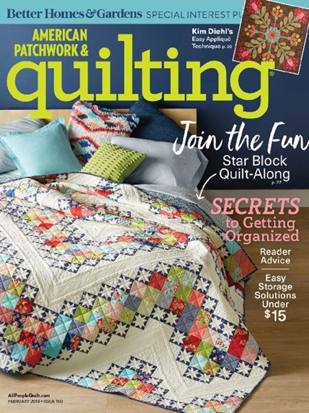 American Patchwork & Quilting Cover - 2/1/2018