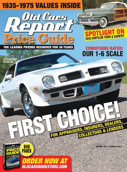 Old Cars Report Price Guide Cover - 11/1/2017