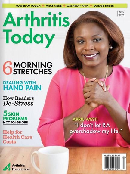 Arthritis Today Cover - 3/1/2016