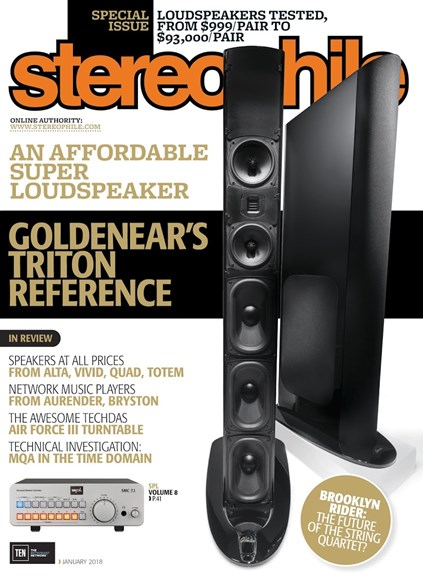 Stereophile Cover - 1/1/2018