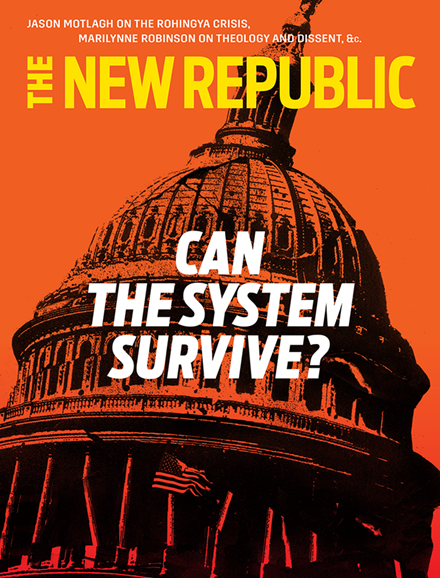 The New Republic Cover - 1/1/2018